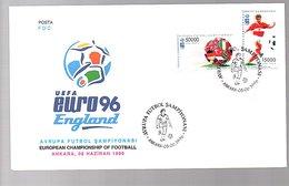 1996 Football England FDC Soccer (145) - 1921-... Republik