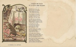 RAT DE VILLE ET LE RAT DES CHAMPS , ILLUSTRATEUR : A. STORCK & C° - Déposé - Illustrateurs & Photographes