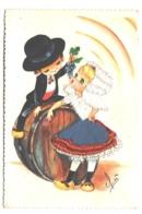 Carte Brodée  , Elsi Gumier , Bourgogne Serie 16  , * 394 30 - Brodées