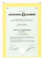 Titre Ancien - Société Anonyme Cockerill Sambre - Titre De 1989 - Industrie