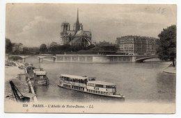 PARIS 4° -- L'Abside De La Cathédrale Notre-Dame (péniches,pub KUB, BYRRH,BERNOT....) - Paris (04)