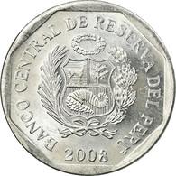 Monnaie, Pérou, 5 Centimos, 2008, Lima, TTB, Aluminium, KM:304.4a - Peru