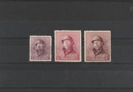 COB N° 176/178 Oblitérations Centrales  Annevoie - Minuscule Aminci Sur Le 176 (dimension D'un Trou D'épingle ) - 1919-1920 Roi Casqué