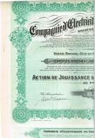 Titre Ancien - Compagnie Electrique De Seraing & Extensions Société Anonyme  - Titre De 1925 - Electricité & Gaz