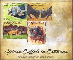 Botswana 2015. African Buffalo In Botswana (MNH OG) Souvenir Sheet - Botswana (1966-...)