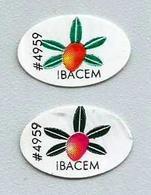# MANGO IBACEM BRAZIL (x 2) Type 3 Fruit Sticker Label Etichette Etiquettes Etiquetas Adhesive Aufkleber Fruta Frucht - Fruits & Vegetables