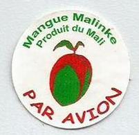 # MANGO MALINKE - MALI, Fruit Sticker Label Etiquette Etiqueta Adhesive Aufkleber Fruta Frucht By Air Par Avion - Frutta E Verdura