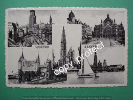 Anvers Antwerpen Souvenir Torengebouw Cenraal Station Kathedraal, Kasteel En Rade - Antwerpen