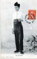 0001 - [66]  Perpignan Type De Catalan - 1908 Cachet  A Date Besançon Et  Perpignan  Cachet A. MARIN Serrurier - Perpignan