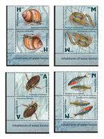 Belarus 2019 Inhabitants Of Water Basins Of Belarus 8 Stamps - Vita Acquatica