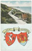 Lower Sandgate Road, Folkestone, 1910 Postcard With Coat Of Arms - Folkestone