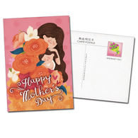 2019 Mother Day Postage Card Kid Girl Flower - Stamps (pictures)