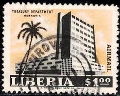 Treasury Department Building, Monrovia, Liberia Stamp SC#C148 Used - Liberia