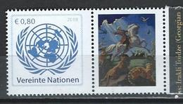 UN-Vienna. Scott # 622 MNH Personalized Pair With Different Label. 850th Anniv. Of Shota Rustaveli  2018 - Wien - Internationales Zentrum