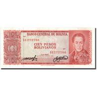 Billet, Bolivie, 100 Pesos Bolivianos, 1962, 1962-07-13, KM:164A, TTB+ - Bolivia