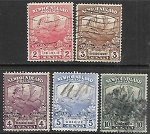 Newfoundland   1919   Sc#116-9 122   5 Diff Moose  Used   2016 Scott Value $9.10 - Newfoundland