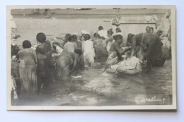 Women Washing In The River Real Photo Postcard - Postcards