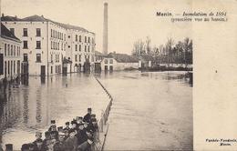 MENEN MENIN MEENEN  INONDATION DE 1894 (PREMIERE VUE DU BASSIN) - Menen
