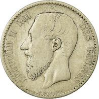 Monnaie, Belgique, Leopold II, Franc, 1886, B+, Argent, KM:28.2 - 07. 1 Franc