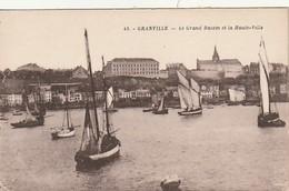 Rare Cpa Granville Le Grand Bassin Et La Haute Ville - Granville