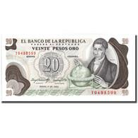Billet, Colombie, 20 Pesos Oro, 1983, 1983-01-01, KM:409d, NEUF - Colombie