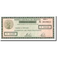 Billet, Bolivie, 500,000 Pesos Bolivianos, 1984, 1984-06-05, KM:189, NEUF - Bolivie