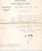 Lettre De ,Joseph-Philippe Simon Dit Lockroy Minitre Du Commerce - Documenti Storici