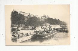 Cp , Bateaux,péniches ,PARIS ,75, Le LOUVRE Et Le Quai, Vierge ,dos Simple - Hausboote