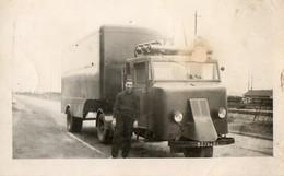 Camion FAR.  Photo 12 X 7 Cms. Camion Articulé FAR. Immatriculé 9072 AN 4.  Avec Remorque. - Automobiles