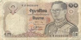 BILLET  THAILANDE 10 BATH - Thaïlande