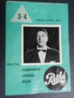 6c) SUPPLEMENTO CATALOGO DISCHI PATHE' 1958 - Altri Oggetti