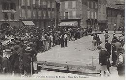 Millau-un Grand Concours De Boules-place De La Fraternité-provient D'un Carnet-tbe - Millau