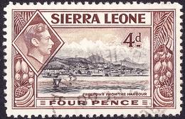 SIERRA LEONE 1938 4d Black & Red-Brown SG193 FU - Sierra Leone (...-1960)