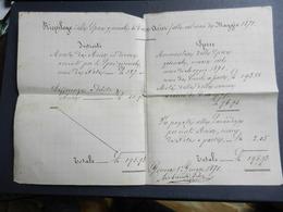 6c) GENOVA RIEPILOGO SPESE GIORNALI CASA ACIER 1871 - Italia