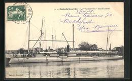 CPA Rochefort-sur-Mer, La Couleuvrine Dans L`Arsenal - Guerre