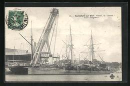 CPA Rochefort-sur-Mer, Arsenal, La Drome Et Le Poignard - Guerre