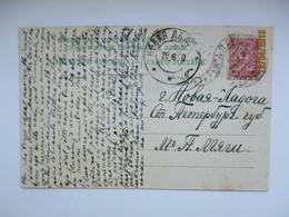 1910 RUSSIA ESTONIA ST. PETERSBURG REGION NOVAYA LADOGA FROM HALLISTE RAILWAY STATION TPO PERNAU - REVEL , TARTU , O - 1857-1916 Empire