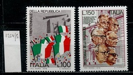Italie - Italy - Italien 1976 Y&T N°1264 à 1265 - Michel N°1532 à 1533 *** - Proclamation De La République - 6. 1946-.. Republik