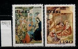 Italie - Italy - Italien 1976 Y&T N°1287 à 1288 - Michel N°1554 à 1555 *** - Noël - 6. 1946-.. Republik