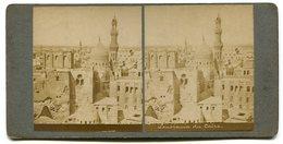 Photographie Stéréoscopique Panorama Du Caire - Stereoscopic
