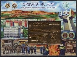 Mongolia (2019) - Block -  / Mining - Mineria - Minerie - Truck - Mineral - UNUSUAL Gold - Beroepen