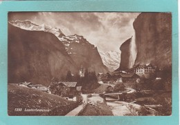 Small Old Post Card Of Lauterbrunnen, Berne, Switzerland,V69. - BE Bern