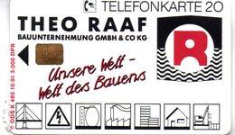 """(Gm3) BRD Telefonkarte 1991 (20) Ungebraucht """"THEO RAAF Bauunternehmung GMBH KG"""" - Deutschland"""