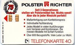 """(Gm3) BRD Telefonkarte 1991 (40) Ungebraucht """"POLSTER RICHTER"""" - Deutschland"""