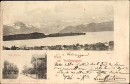 Cp Vordermeggen Meggen Kt. Luzern Schweiz, Totalansicht, Villa Danioth - LU Luzern