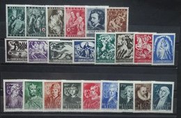 BELGIE  1944   Nr. 647 - 652 / 653 - 660 / 661 - 669    Postfris **  CW  13,00 - Neufs