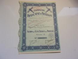 Compagnie Française D'aviation (boulogne Billancourt) - Shareholdings