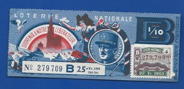 Billet De Loterie  Théme  Général LECLERC  Année: 1953 - Billets De Loterie