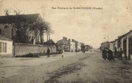 Rue Principale De St MATHURIN  ( Vendée) RV - France
