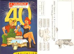 MEYNET : Carte Publicite VAUDAUX 40 ANS - Autres